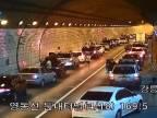 Ukážkové správanie motoristov v tuneli (Južná Kórea)