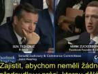 Republikánský senátor Ted Cruz vs. Zuckerberg - cenzura Facebook