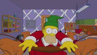 Simpsonovci: predvianočná gaučová scéna
