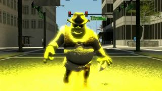 Keď Shrek objaví veľkomesto (haluz)