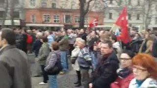 Protest proti NATO v BA 2