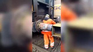 Adrenalínové spájanie vagónov (Nemecko)