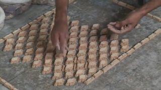 Výroba pálenej mozaiky (ručná práca)
