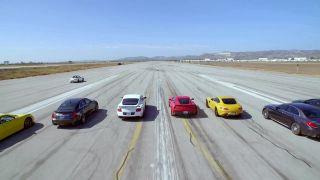 Drag race 10 rýchlych áut na 1/4 míle (2015)