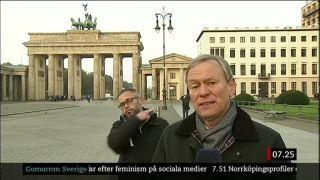 Živý vstup reportéra vo švédskej TV