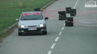 Osudový obrubník Citroënu Xsara (rally Poľsko)