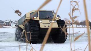 Zábava s ruským obojživelným vozidlom SHERP