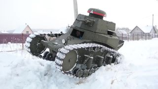 Výroba malého tanku v 5 minútach (Rusko)