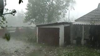 Apokalyptické krupobitie v Poltave (Ukrajina)