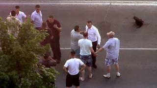 Svadobčania si to rozdali na ulici (Ukrajina)