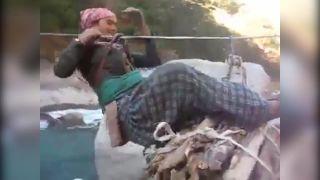 Nepálske žieňa pri práci