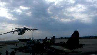 Nízky prelet Il-76MD (Ukrajina)
