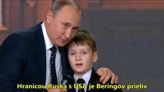 Putin (vtipkuje) o ruských hraniciach