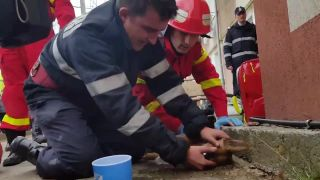 Rumunskí hasiči v akcii!