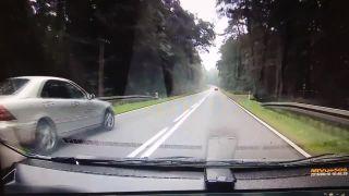 Koniec ďalšieho cestného pretekára (Poľsko)