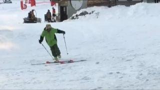 Ťažký deň na lyžiach!