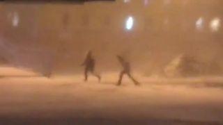 Deti idú domov zo školy (Sibír)