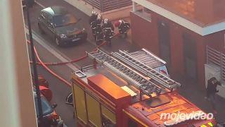 Požiar v byte na druhom poschodí (Francúzsko)