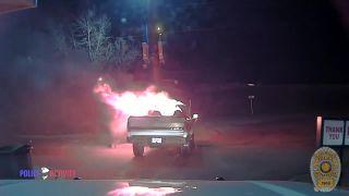 Policajt zachránil reštauráciu pred požiarom (USA)