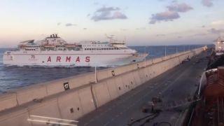 Výpadok elektriny na trajekte (Gran Canaria)
