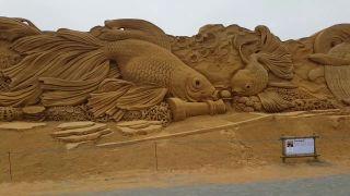 Úžasný podmorský svet z piesku (Dánsko)