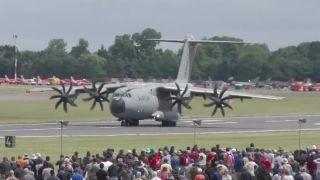 Šantenie s lietadlom Airbus A400M