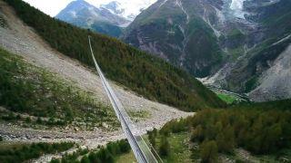 Otvorili najdlhší peší most na svete Grächen - Zermatt