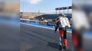 Jetpack vs. Dodge Challanger
