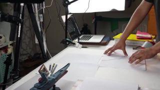 Tanečnica na papieri (multiperspektívna stop-motion animácia)