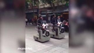 video Policajná hliadka na pešej zóne (Luxembursko)