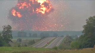 Explózia munície na Ukrajine